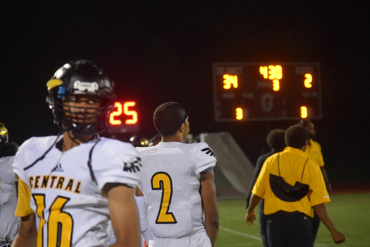 Senior quarterback Sean Stephens looks on during the third quarter of the game at DeSmet. Stephens has been booed before and didn't enjoy the experience.