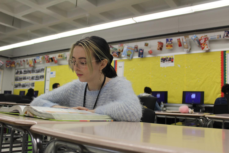 Junior Olivia Jarrell works in Mr. Kirchgessner's Business Education class.