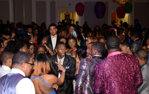 Students dance and sing during the 2019 prom. This is what all of the weeks of preparation have led them to.