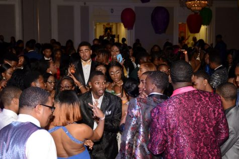 "Students dance and sing during the 2019 prom. This is what all of the weeks of preparation have led them to. ""I"